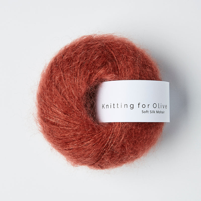 Knitting for Olive Soft Silk Mohair - Forest Berry
