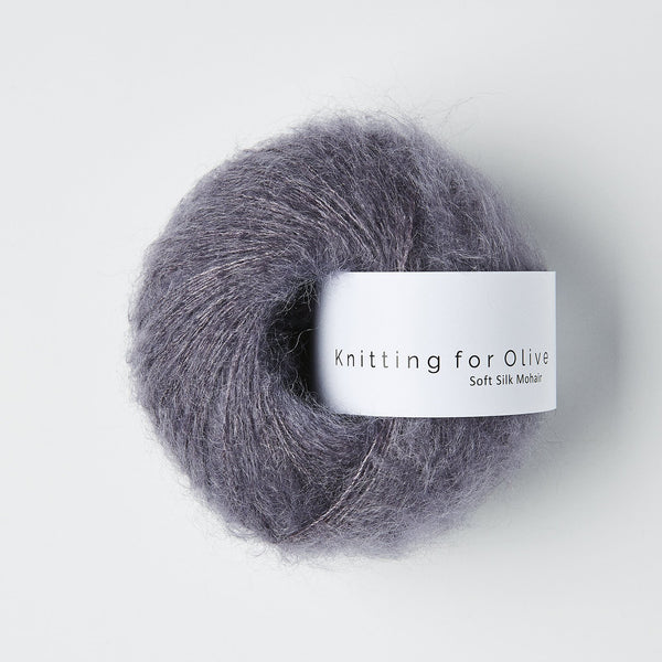 Knitting for Olive Soft Silk Mohair - Dusty Violette