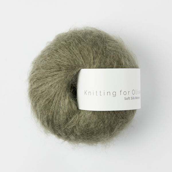 Knitting for Olive Soft Silk Mohair - Dusty Olive