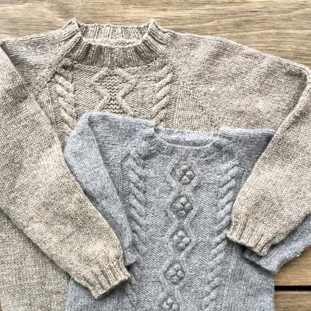 Cable Sweater and Cable Dress