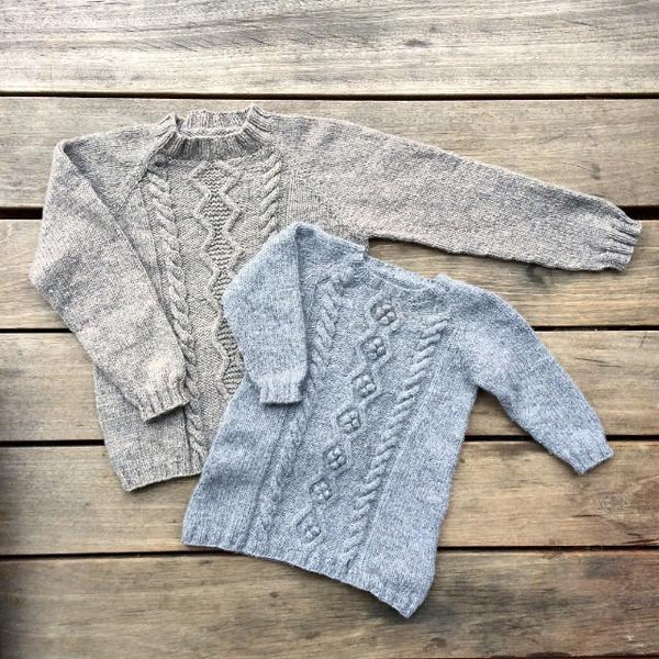 Cable Sweater and Cable Dress - English