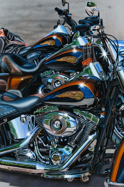 110 Years of Great Motorcycles - Michael Godard Art Gallery