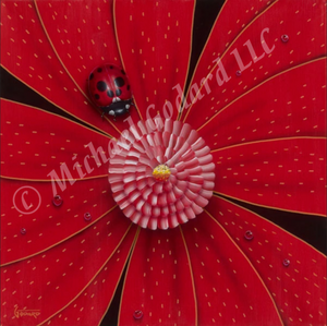 Colored Lady Bug on Paper