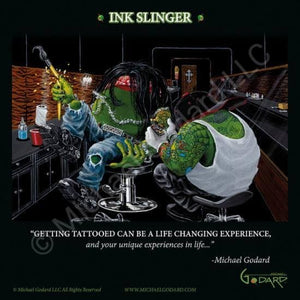 Ink Slinger Framed