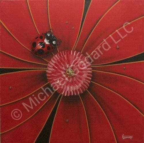 Red Flower Lady Bug