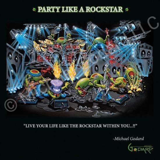 Party Like a Rockstar Framed Print