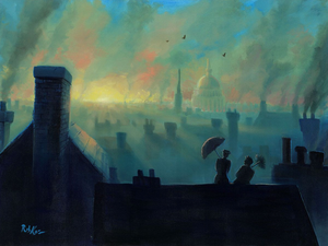 A View from the Chimneys - Michael Godard Art Gallery