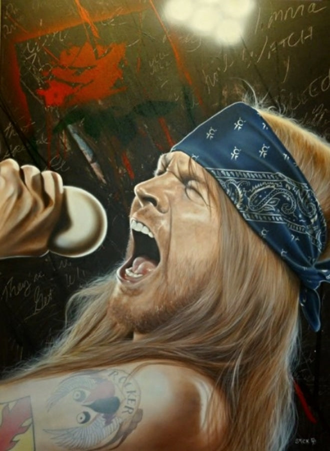 Axl Rose (Guns N' Roses) - I Wanna Watch You Bleed - Michael Godard Art Gallery