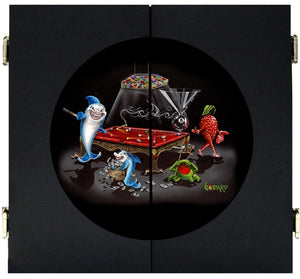 Pool Shark 3 Dart Board/Cabinet - Michael Godard Art Gallery