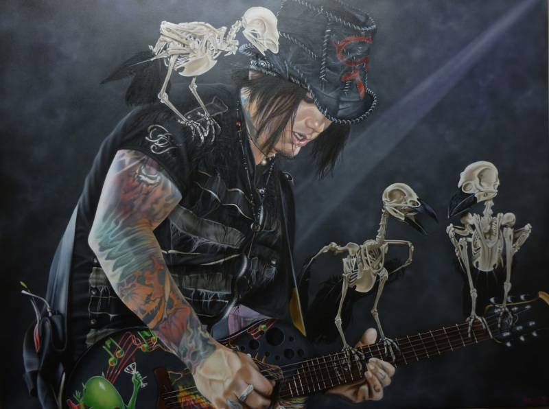 DJ Ashba (Guns N' Roses) - Murder Of Four - Michael Godard Art Gallery