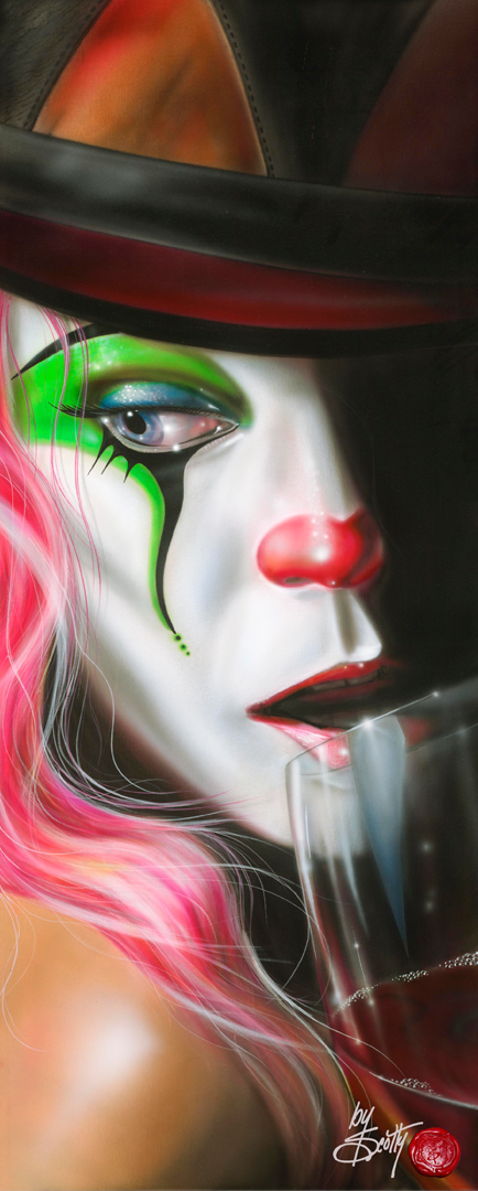 Drinking the Clown Away - Michael Godard Art Gallery