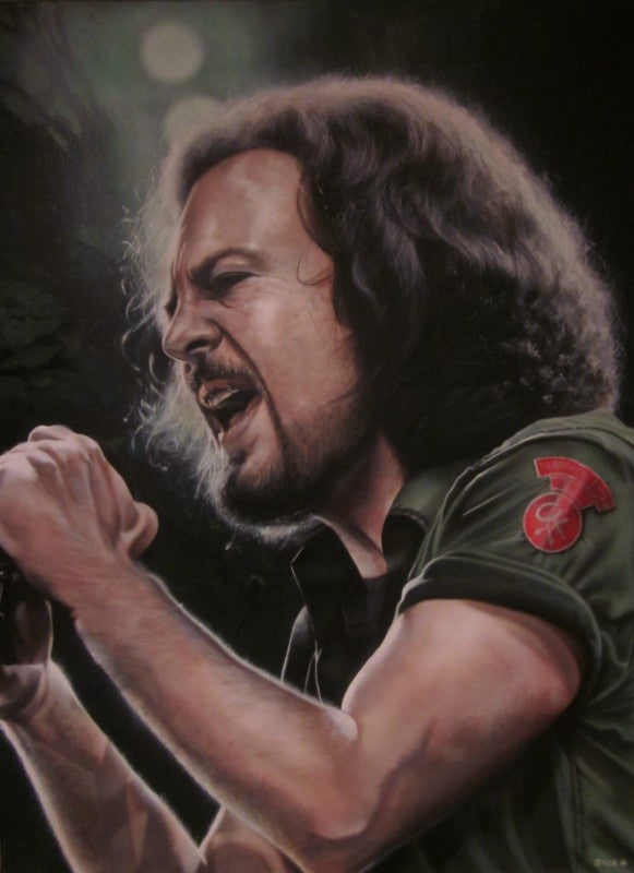 Eddie Vedder (Pearl Jam) - We Unleashed The Lion - Michael Godard Art Gallery