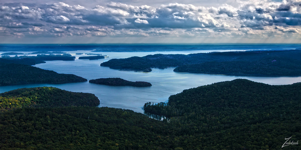 Honeycomb Cove Wilderness II- aerial fine art photography by Zedekiah