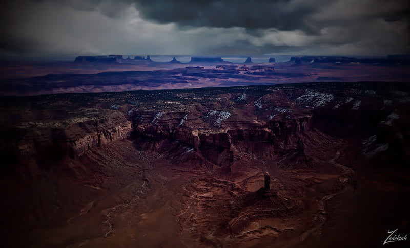 Hoskinnini Mesa- aerial fine art photography by Zedekiah