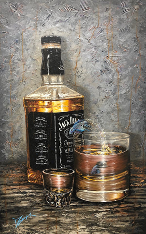 Drink Like a Fish - Whiskey River - Michael Godard Art Gallery