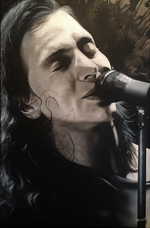 Eddie Vedder  (Pearl Jam) - I Know Someday You'll Have a Beautiful Life - Michael Godard Art Gallery