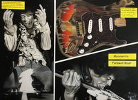 Painted images of Jimi Hendrix and his famous guitar