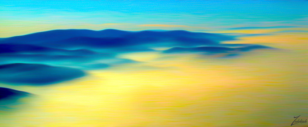 Misty Tehachapi Morning- aerial fine art photography by Zedekiah