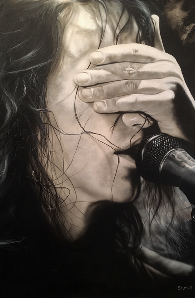 Eddie Vedder (Pearl Jam) - Pictures Have All Been Washed in Black - Michael Godard Art Gallery
