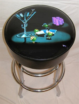 Pocket Rocket Bar Stool - Michael Godard Art Gallery