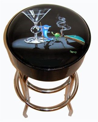 Pool Shark Bar Stool - Michael Godard Art Gallery