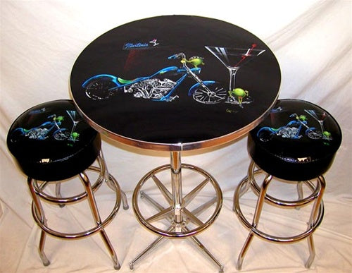Pub Table Bar Stool Set - Michael Godard Art Gallery