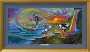 Mickey and the Boys at Rainbow Falls (Silver)