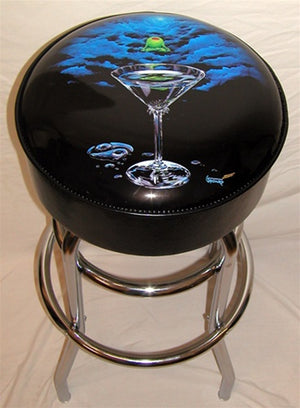 Zen Martini Bar Stool - Michael Godard Art Gallery