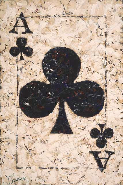 Ace of Clubs playing card artwork by Trevor Mezak