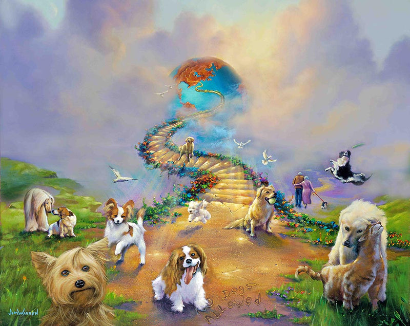 All Dogs Go to Heaven 4 (Soft Sky) - Michael Godard Art Gallery