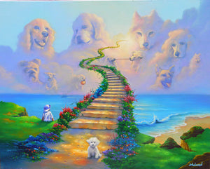 All Dogs Go to Heaven - Michael Godard Art Gallery