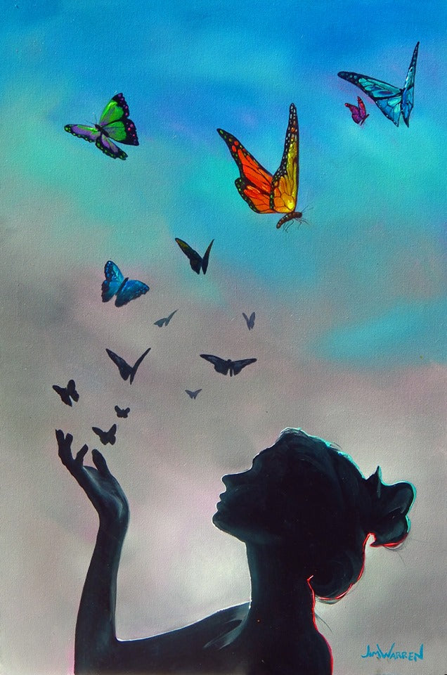 Butterflies are Free to Fly - Michael Godard Art Gallery