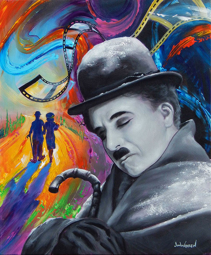 Charlie Chaplin Dreams in Technicolor - Michael Godard Art Gallery