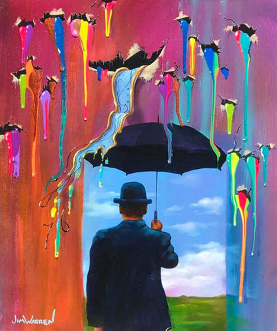 Dali Raining on Magritte's Parade