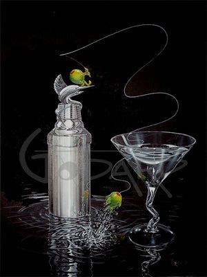 Marlin Martini Giclee' on Paper
