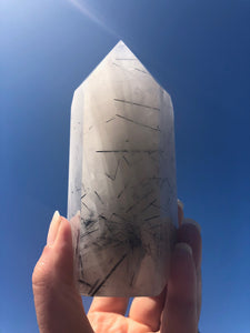 Tourmalinated Quartz wand