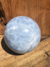 Load image into Gallery viewer, Blue Calcite sphere (large)