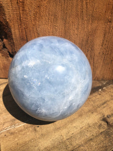 Blue Calcite sphere (large)