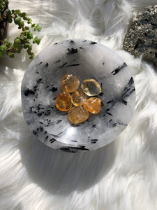 Tourmalinated Quartz Bowl