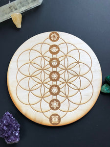 Flower of Life & Chakra Crystal Grid