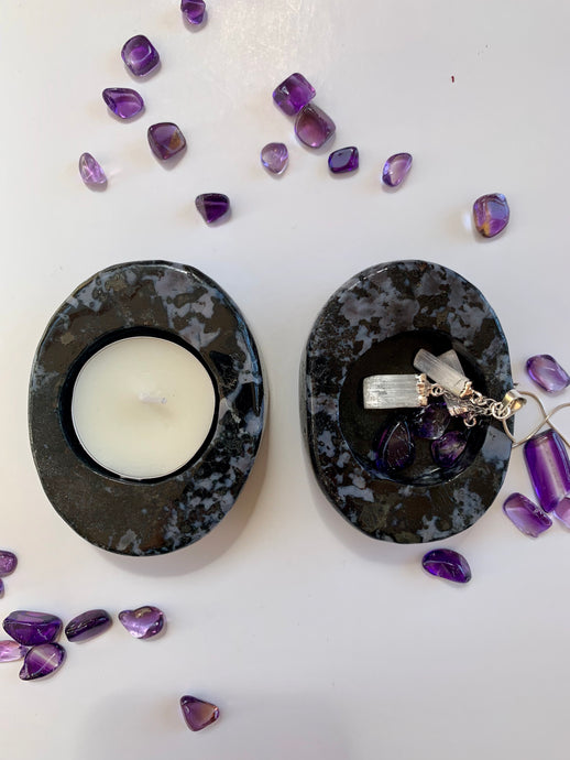 Indigo Gabbro Tea light Candle Holder