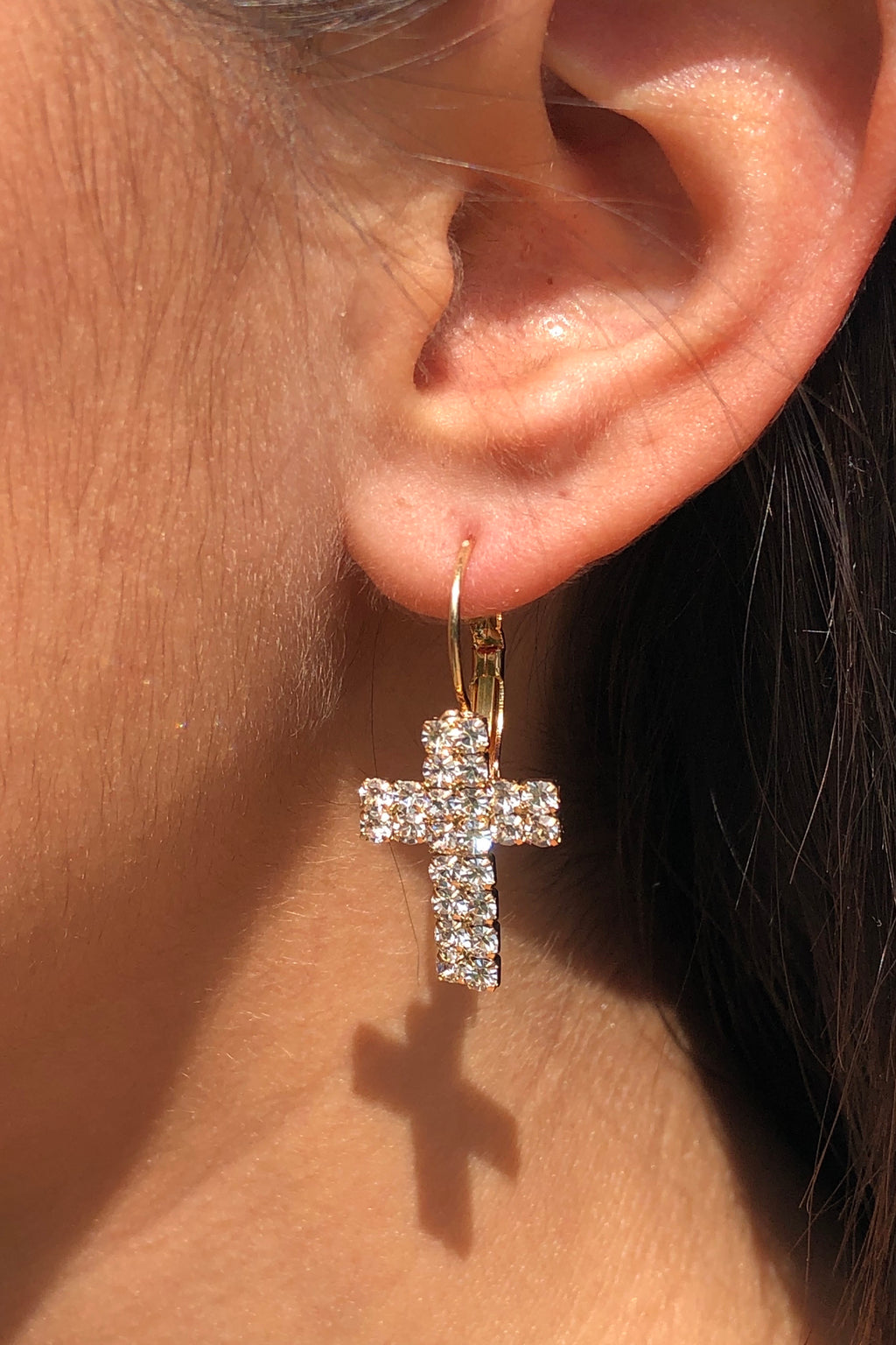 Cross My Mind Earrings - Gold