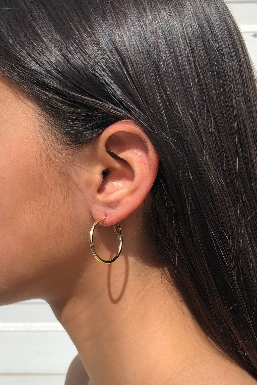 Textured Hoop Earring Set - Gold