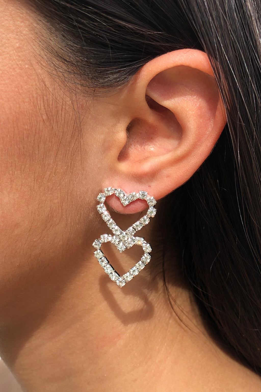 Sweet Love Earrings - Silver