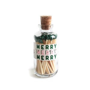 Christmas Merry Matches - Wood Hand Cut Matches