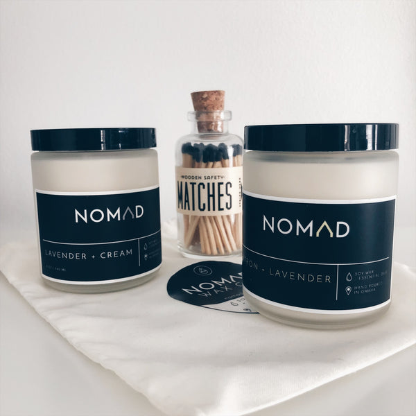 Gift Bundle - 8 oz Candle Pair + Matches