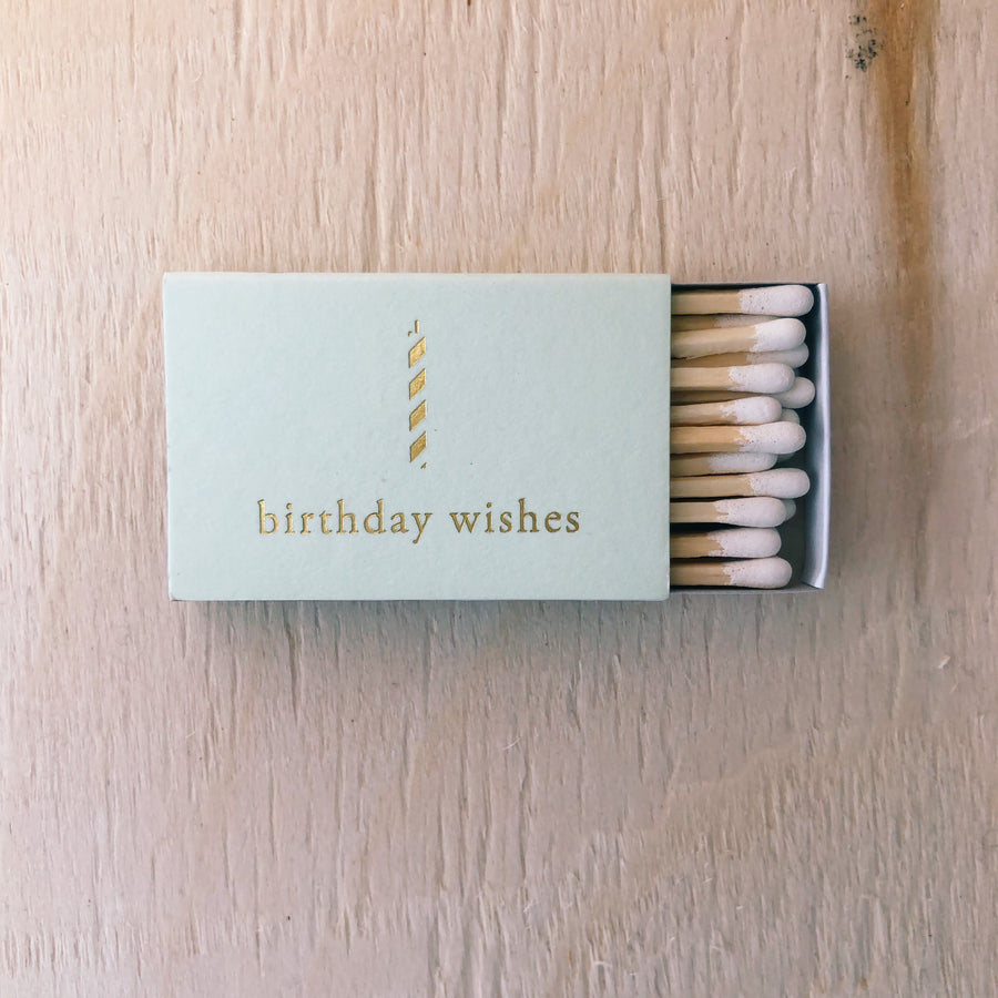 Mini Gold Foil Stamped Matchboxes