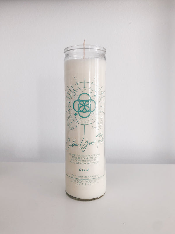 Calm Intention + Prayer Candle
