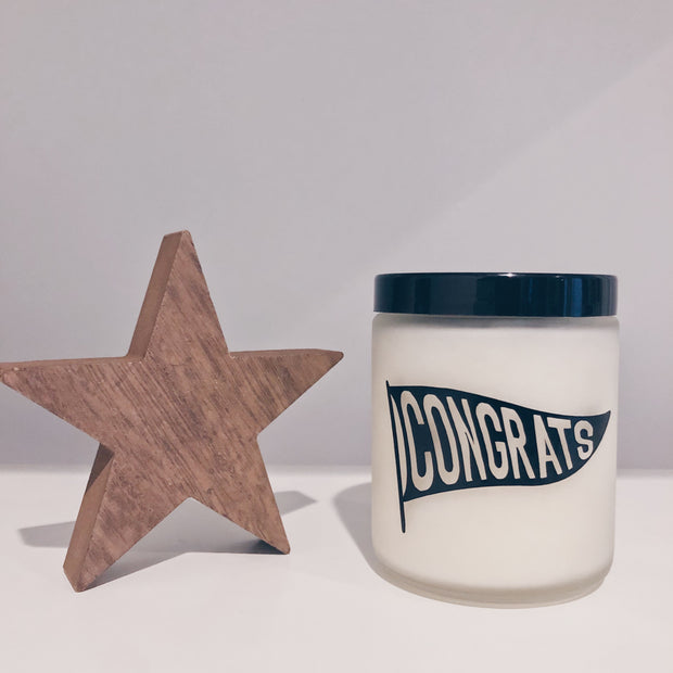 Congrats Vegan Scented Soy Candle 1