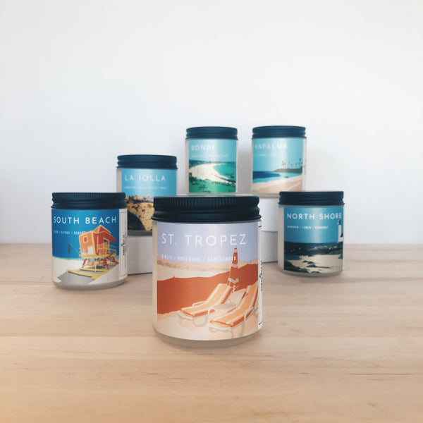 St. Tropez Scented Soy Candle